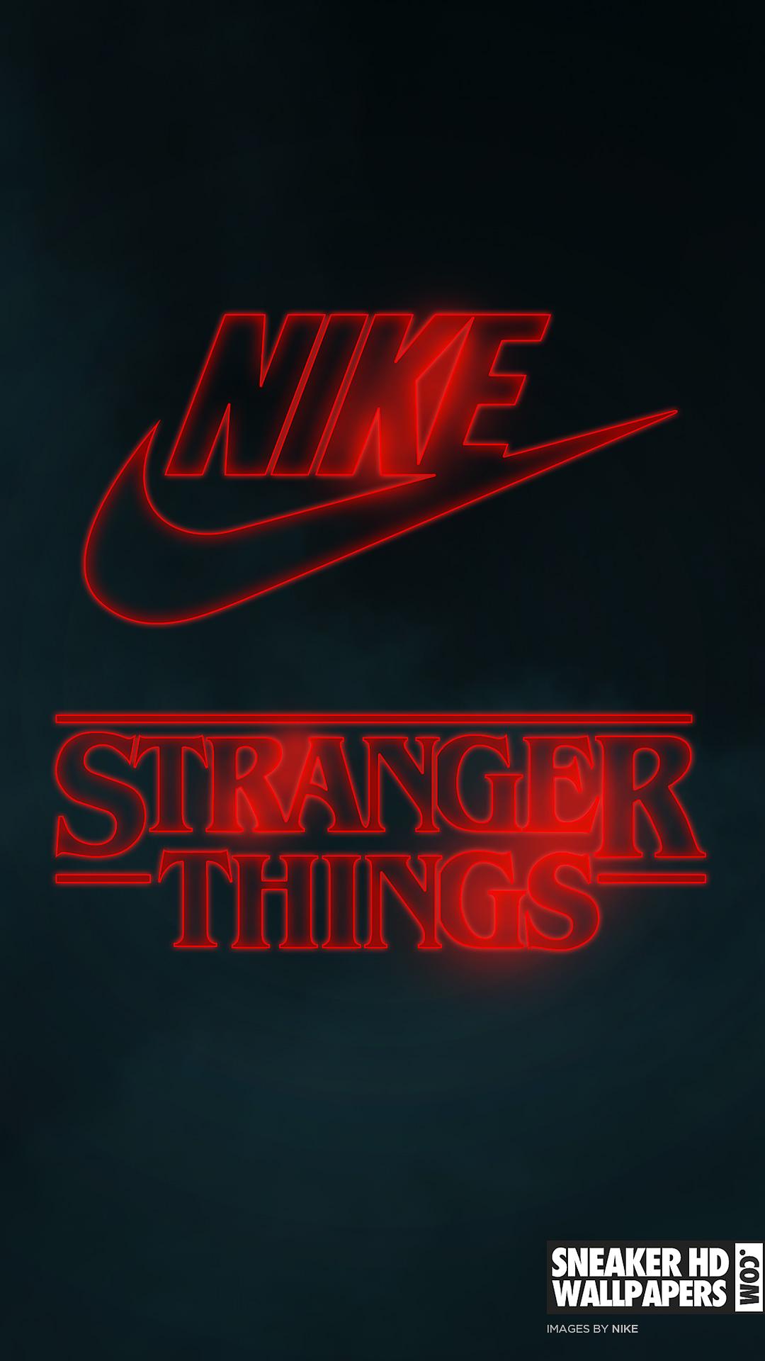 stranger things nike wallpaper mobile